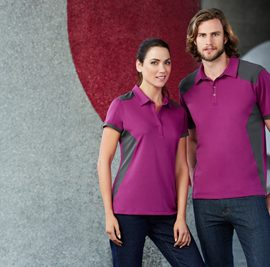 The Biz Collection Womens Rival Polo is a 100% Biz Cool polo shirt. Mens and Womens. 12 colours. Great branded biz cool apparel & polo shirts.