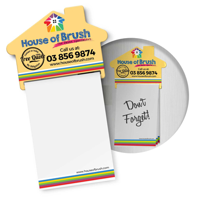 The Trends Collection Magnetic House Memo Pad is a handy A7 note pad with 25 leaves and magnetic holder. Full colour print. Great branded magnetic pads.