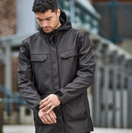 The Stormtech Mens Rover Bonded Field Coat is High style meets comfort protection from the elements.  Enhanced features. Black or Charcoal Twill.