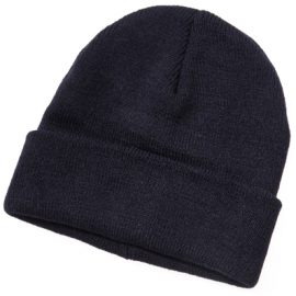 The Legend Life Kids Acrylic Beanie is 50% wool beanie with one size fits all for kids.  Roll up cuff.  Black or Navy.  Great branded kids beanies & sports headwear.