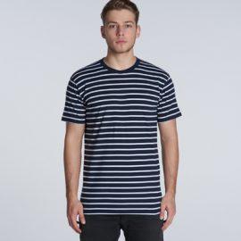 5028 AS Colour Staple Stripe Tee - Promotrenz