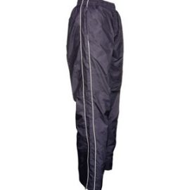 The Aurora Kids Nylon Trackpants are a showerproof, nylon, fully lined trackpant.  Black or Navy.  6 - 14.  Great nylon sportswear from Aurora Clothing.