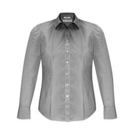 The Biz Collection Ladies Euro Long Sleeve Shirt is an easy care 65% polyester, 35% cotton shirt. 3 colours. 6 - 26. Great branded long sleeve work shirts.