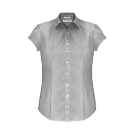 The Biz Collection Ladies Euro Short Sleeve Shirt is an easy care 65% polyester, 35% cotton shirt.  3 colours.  6 - 26.  Great branded short sleeve work shirts.