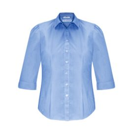The Biz Collection Ladies Euro 3/4 Sleeve Shirt is an easy care 65% polyester, 35% cotton shirt. 3 colours. 6 - 26. Great branded short sleeve work shirts.