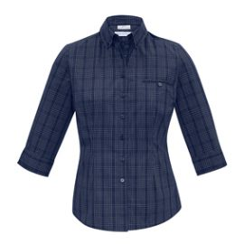 The Biz Collection Ladies Harper 3/4 Sleeve Shirt is a 65% polyester shirt. Prince of Wales check fabric. 2 colours. 6 - 24. Great business shirts.