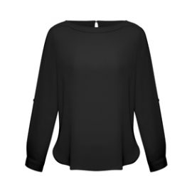 The Biz Collection Madison Boatneck Blouse is a mechanical stretch polyester blouse. 5 colours. 6 - 26. Great boatneck blouses from Biz Collection