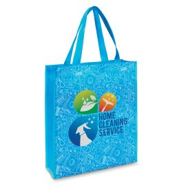 The Trends Collection Kira Tote Bag Laminated is a reusable tote bag made from matt laminated non woven material. Handles & binding available in 12 colours.