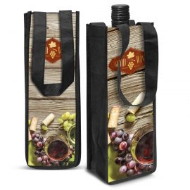 The Trends Collection Festiva Wine Tote bag is a single bottle wine tote bag.  Full colour branding.  Great bags for tasting rooms or for your wine club!