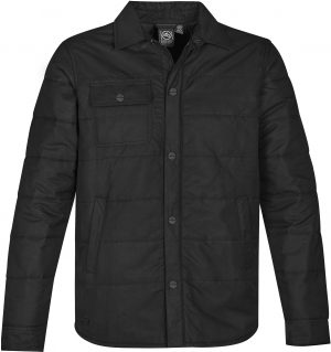 The Stormtech Mens Brooklyn Quilted Jacket is cool-weather casual. Thermal fill panels, custom snap buttons, horizontal quilting & an internal zip pocket.