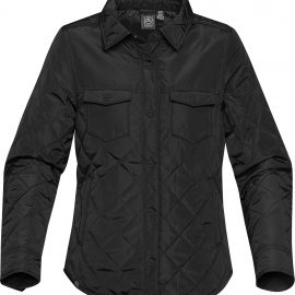 The Stormtech Womens Diamondback Jacket is casually high-styled for wearing inside or out. Water resistant coating, with light thermal fill & detailed design