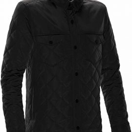 The Stormtech Mens Diamondback Jacket is casually high-styled for wearing inside or out. Water resistant coating, with light thermal fill & detailed design
