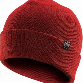 The Stormtech Dockside Knit Beanie is a fine gauge roll-cuff acrylic knit beanie. A classic look that performs in cool conditions. 4 colours. Great Stormtech beanies.