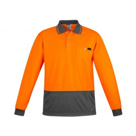 The Syzmik Comfort Back Long Sleeve Polo is a 170gsm, natural, breathable long sleeve polo.  4 colours.  XXS - 7XL. Great branded hi vis long sleeve polos.