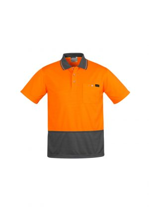 The Syzmik Comfort Back Short Sleeve Polo is a 170gsm, natural, breathable long sleeve polo. 4 colours. XXS - 7XL. Great branded hi vis long sleeve polos.
