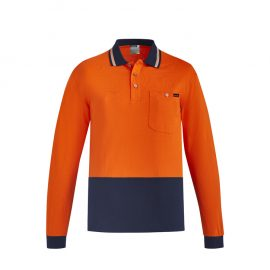The Syzmik Hi Vis Cotton Long sleeve Polo is a natural, soft cotton fabric, hi vis polo.  2 colours.  XXS - 7XL.  Great branded hi vis cotton polos from Syzmik.