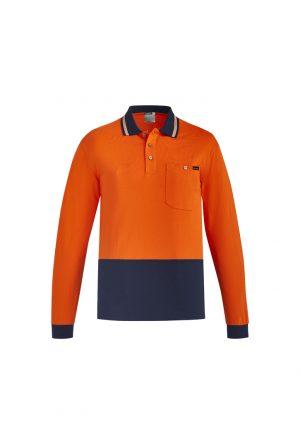 The Syzmik Hi Vis Cotton Long sleeve Polo is a natural, soft cotton fabric, hi vis polo. 2 colours. XXS - 7XL. Great branded hi vis cotton polos from Syzmik.