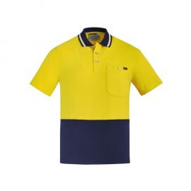 The Syzmik Hi Vis Cotton Short Sleeve Polo is a natural, soft cotton fabric, hi vis polo.  2 colours.  XXS - 7XL.  Great branded hi vis cotton polos from Syzmik.