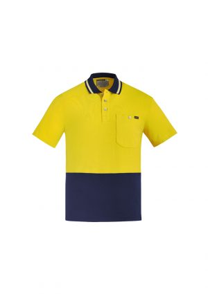 The Syzmik Hi Vis Cotton Short Sleeve Polo is a natural, soft cotton fabric, hi vis polo. 2 colours. XXS - 7XL. Great branded hi vis cotton polos from Syzmik.