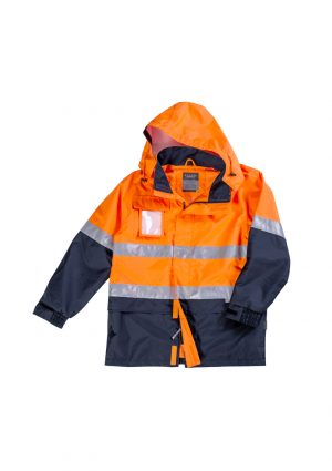 The Syzmik Ultralite Waterproof Jacket is a polyester waterproof to 10000mm jacket.  Embroidery access.  2 colours. Great hi viz jackets from Syzmik.