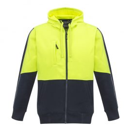 The Syzmik Unisex Hi Vis Full Zip Hoodie is made from 100% Polyester.  320gsm.  Garment complies with Standards for Hi Visibility Safety Garments.  4 colour combinations.