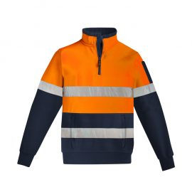The Syzmik Mens Hi Vis 1/4 Zip Pullover is a hoop taped premium heavyweight brushed fleece.  2 colours.  Great branded hi vis work fleeces.