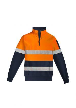 The Syzmik Mens Hi Vis 1/4 Zip Pullover is a hoop taped premium heavyweight brushed fleece. 2 colours. Great branded hi vis work fleeces.
