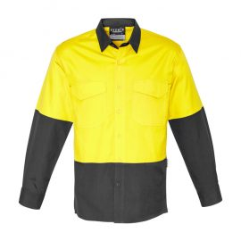 The Syzmik Mens Rugged Cooling Hi Vis Spliced Shirt is a square weave cotton ripstop hi vis shirt.  4 colours.  XXS - 7XL.  Great branded hi vis wear.