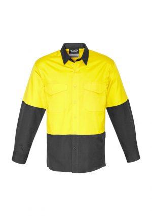 The Syzmik Mens Rugged Cooling Hi Vis Spliced Shirt is a square weave cotton ripstop hi vis shirt. 4 colours. XXS - 7XL. Great branded hi vis wear.