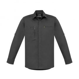 The Syzmik Mens Streetworx Stretch Long Sleeve Shirt is made from stretch cotton, slim fit with pockets.  4 colours.  Great branded practical workwear.