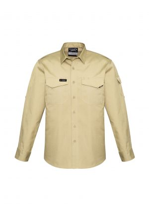 The Syzmik Mens Rugged Cooling Shirt is a square weave cotton ripstop shirt.  4 colours.  XXS - 7XL.  Great branded Syzmik tradie work shirts.