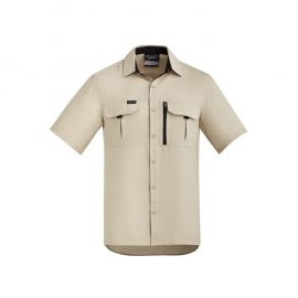 The Syzmik Mens Outdoor Short Sleeve Shirt is a 100% polyester ripstop lightweight work shirt.  6 colours.  XXS - 7XL.  Great branded long sleeve work shirts.