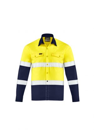 The Syzmik Mens Lightweight Bio Motion Shirt is a lightweight cotton twill shirt with bio motion arm taping.  Mesh vents.  2 hi vis colour options.
