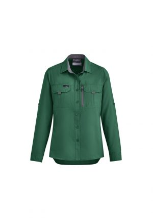 The Syzmik Womens Outdoor Long Sleeve Shirt is a 100% polyester ripstop lightweight work shirt. 6 colours. 6 - 24. Great branded long sleeve work shirts.