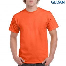 The Gildan Ultra Cotton Classic Fit Adult T Shirt is 100% cotton and available in 9 colours.  Up to 5XL.  Great for printed tees & branded apparel options.