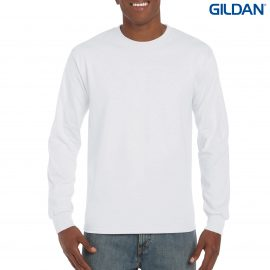 The Gildan Ultra Cotton Adult Long Sleeve T-Shirt is a 100% cotton jersey tee.  4 colours.  S - 3XL.  200gsm.  Great printed long sleeve tees.