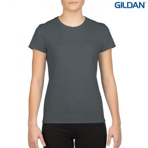 The Gildan Performance Ladies T-Shirt is a 100% Polyester driwear tee. XS-XL. 7 colours. Great performance tees from Gildan. Kids and Mens styles available.
