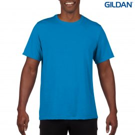 The Gildan Performace Adult T-Shirt is a 100% Polyester driwear tee. S - 3XL. 7 colours. Great performance tees from Gildan. Kids and Ladies styles available.