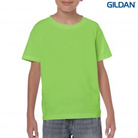 The Gildan Heavy Cotton Youth T Shirt is a 50% cotton/50% polyester tee.  Sizes 8 - 16.  26 colours.  Great cost effective kids tees for printing and events.