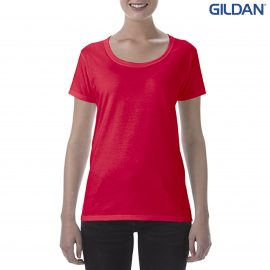 The Gildan Softstyle Ladies' Deep Scoop T-Shirt is a cotton tee with deep scoop neckline.  10 colours.  S - 3XL. Great ladies cotton tees from Gildan.