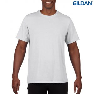 The Gildan Sublimation Adult T-Shirt is a 100% polyester tee. Tearaway label. White only. Great branded sublimation tees for teams and events.