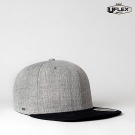 The Headwear U-Flex Snap Back 6 Flat Peak Cap is an acrylic/wool constructed 6 panel cap.  Embroidery or transfer recommended.  9 colours. Snap back cap.