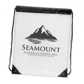 The Trends Collection Clarity Drawstring Backpack is a transparent handy drawstring backpack. Soft crystal clear plastic. Reusable bags from Trends Collection.