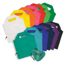 The Trends Collection Ergo Fold-Away Bag is a reusable shopping bag that can be folded away into a drawstring pouch. 13 colours. Branding on pouch.