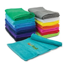 The Trends Collection Enduro Sports Towel is a luxurious sports towel made from 420gsm cotton terry towelling.  14 colours.  Great branded sports towels.