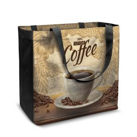 The Trends Collection City Shopper Tote Bag is a laminated, full colour, sublimation printed, reusable tote bag. Great full branded options for retail bags.