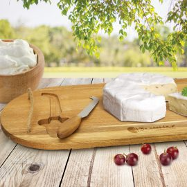 The Trends Collection Coventry Cheese Board is a luxury rustic acacia cheese board.  Contains a cheese knife.  Laser Engraved.  Great corporate gifts.