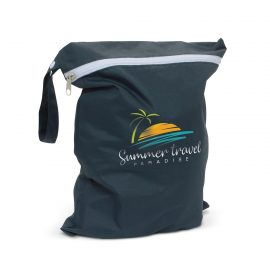 The Trends Collection Brighton Wet Bag is a great way to store wet or dirty items.  Machine washable.  Great for swimming, daycares and more.  In Navy.