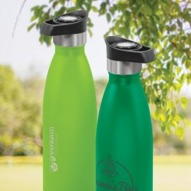 The Trends Collection Mirage Powder Coated Vacuum Bottle Push Lid is a premium quality 500ml vacuum stainless steel bottle. 13 colours. Great drink bottles.