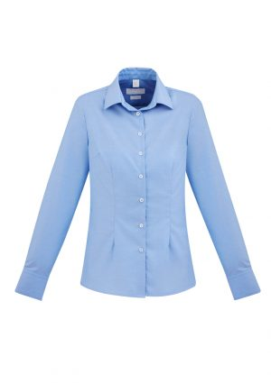 The Biz Collection Regent Ladies Long Sleeve Shirt is a wrinkle resistant 100% premium cotton short sleeve shirt.  2 colours.  6 - 24.  Great work shirts.